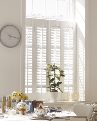 """cafe style shutters in white"""