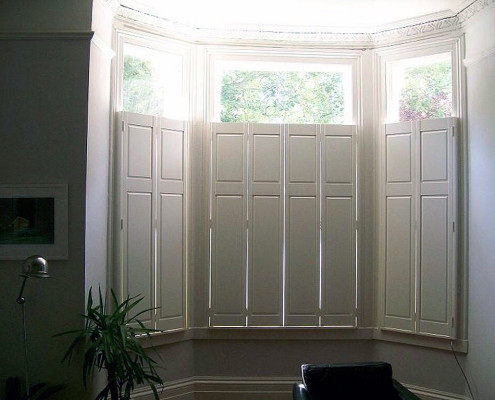 """cafe style panel shutters in cream"""