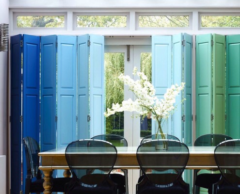 """colourful solid panel shutters shutter blinds"""